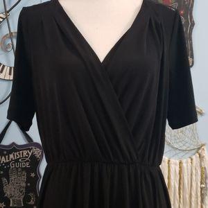 BCBGeneration Black Lace Mini Dress sz L, NWT
